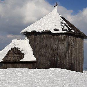 Petra S. na vrcholu Sněžka (26.3.2021 15:05)
