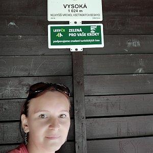 Jana Bartošová na vrcholu Vysoká (26.7.2019 11:47)