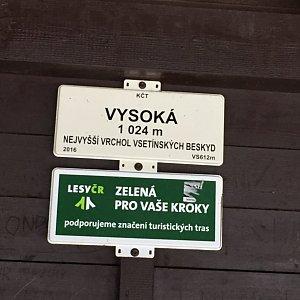Vendula Valigurová na vrcholu Vysoká (19.1.2020 10:50)
