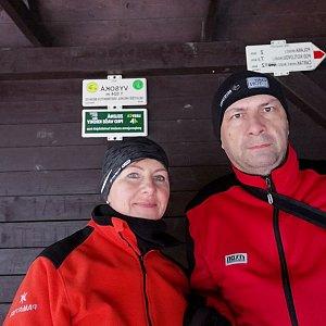 Dana + jirka na vrcholu Vysoká (27.2.2020 15:43)