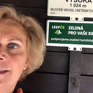 Magda na vrcholu Vysoká (26.4.2020 14:34)