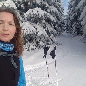 Marcela Kubíčková na vrcholu Vysoká (15.1.2021 11:04)