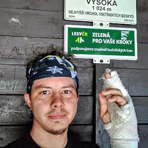 Jan Rendl na vrcholu Vysoká (31.3.2019 12:00)