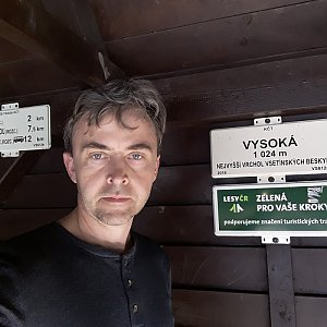 Pavel Skřičík na vrcholu Vysoká (31.3.2019 10:14)