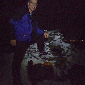 Martin na vrcholu Kletečná (23.1.2021 15:45)