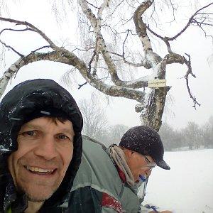 Martin na vrcholu Hradišťany (23.1.2021 15:45)
