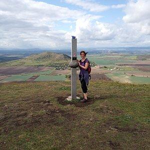 Štěpánka na vrcholu Oblík (28.9.2019 14:00)