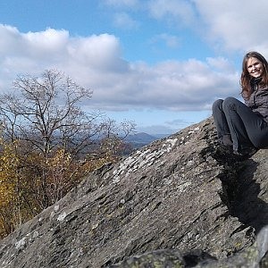 Iveta Válová na vrcholu Stříbrník (5.11.2020 12:30)