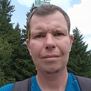 Michal Krčmář na vrcholu Malý Javorník (24.8.2019 12:52)