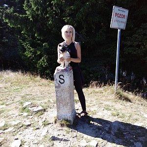 Ilona Mušálková na vrcholu Malý Javorník (15.9.2019 14:30)