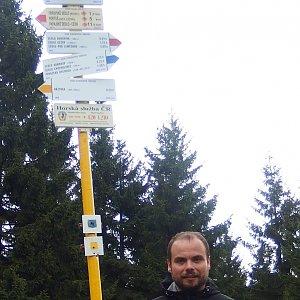 Jiří Chmiel na vrcholu Malý Javorník (28.9.2019 11:53)