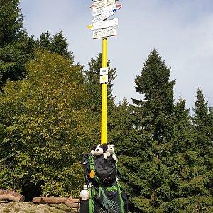 Petr Pepe Peloušek na vrcholu Malý Javorník (29.9.2019 10:36)
