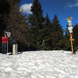 Jana Mayerová na vrcholu Malý Javorník (23.3.2019 12:41)