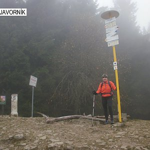 Hanka na vrcholu Malý Javorník (2.11.2019 11:02)