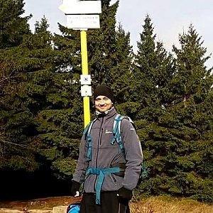 David Bunny Beil na vrcholu Malý Javorník (17.11.2019 10:30)