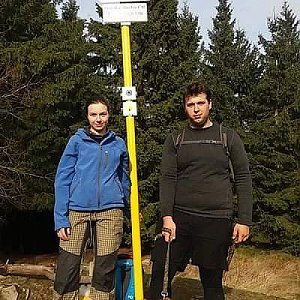 Markéta Čeníková na vrcholu Malý Javorník (17.11.2019 11:50)