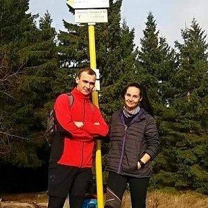 Jiří Tkáč na vrcholu Malý Javorník (17.11.2019 11:35)
