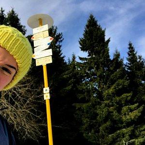 Andulka na vrcholu Malý Javorník (1.12.2019 12:09)