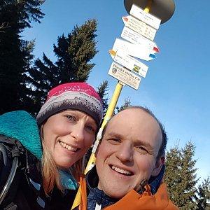 Michaela Karásková na vrcholu Malý Javorník (22.11.2020 14:15)