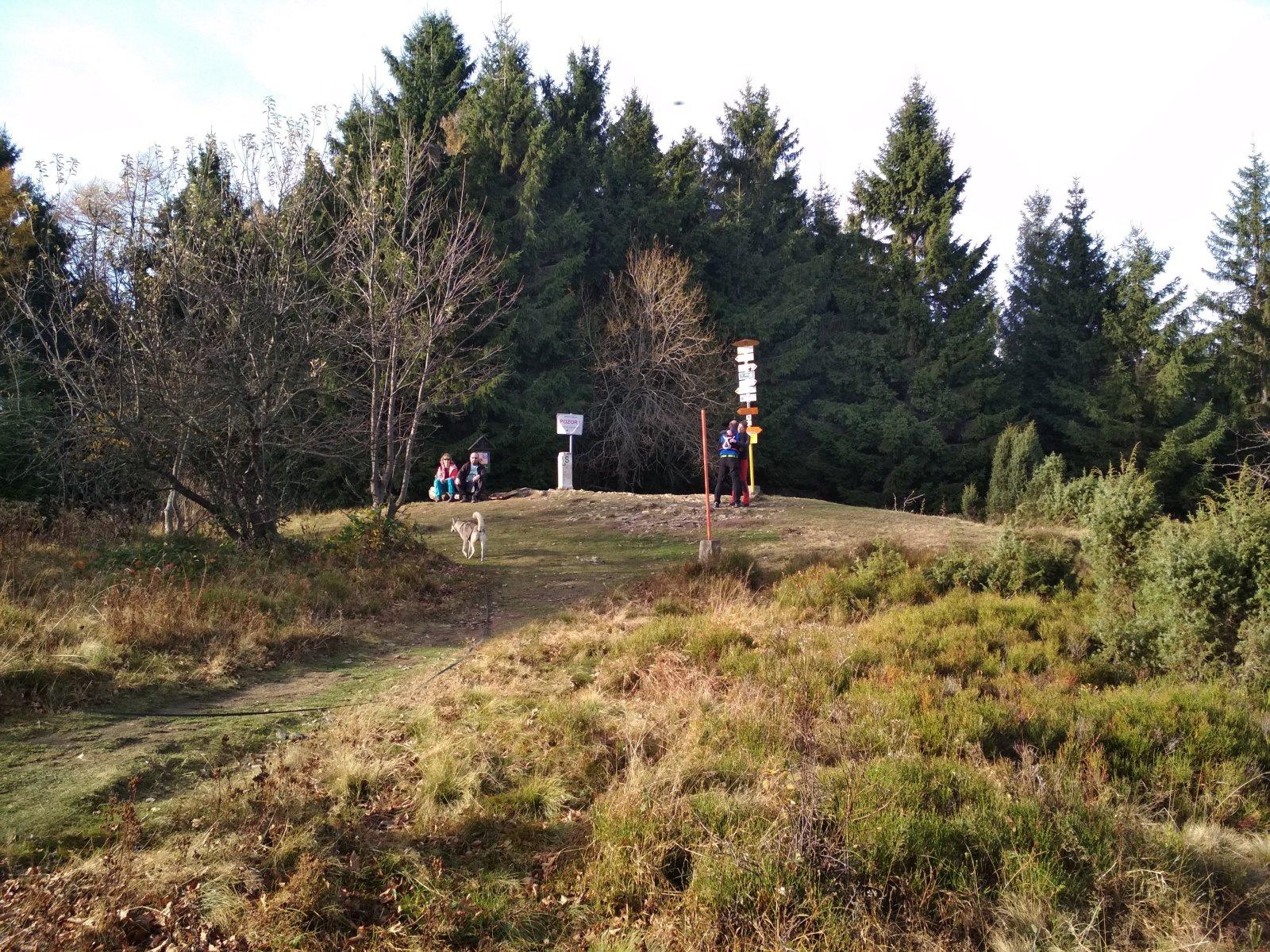 Katka na vrcholu Malý Javorník (4.11.2018 13:47)