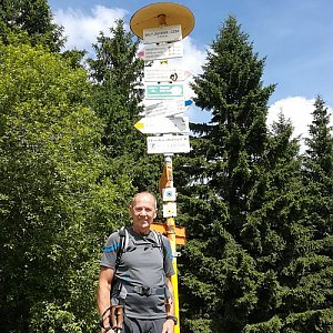 MUDr.Svatopluk Kunčar na vrcholu Malý Javorník (29.6.2019 1:35)