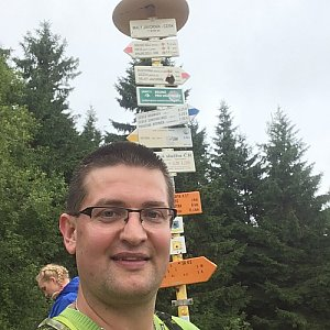 Radim Škrabánek na vrcholu Malý Javorník (23.7.2019 13:04)