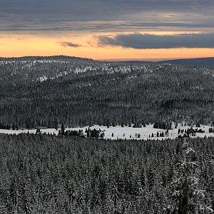 Bouřka na vrcholu Jelení stráň (1.1.2021 15:00)