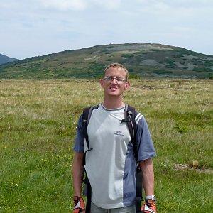 Mountainer na vrcholu Studniční hora (23.7.2016 12:57)