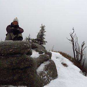 Iveta Válová na vrcholu Ptačí kupy (4.1.2020 12:05)
