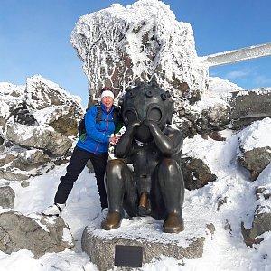 Iveta Steinerová na vrcholu Ještěd (20.1.2018 0:59)