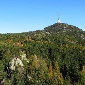 Iveta Válová na vrcholu Ještěd (25.10.2020)