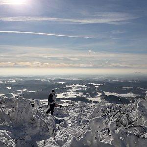 Jan Pova na vrcholu Ještěd (23.1.2019 10:00)
