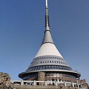 Pavel Martínek na vrcholu Ještěd (23.2.2021 14:45)