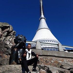 Filip Šimon na vrcholu Ještěd (2.8.2021 15:47)