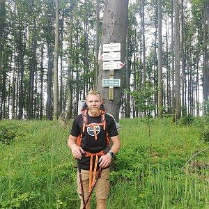 Tomáš Vašíček na vrcholu Čerešienky (5.7.2021 9:50)