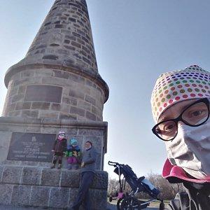 Pavel Vosecky na vrcholu Lipská hora (21.4.2020 22:05)