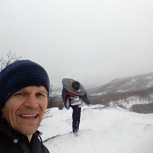Martin na vrcholu Lipská hora (23.1.2021 15:45)