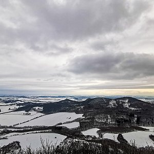 Lenka Hodíková na vrcholu Lipská hora (17.1.2021 0:22)
