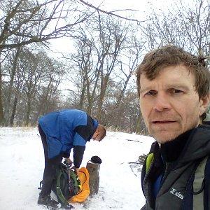 Martin na vrcholu Milešovský kloc (23.1.2021 15:45)