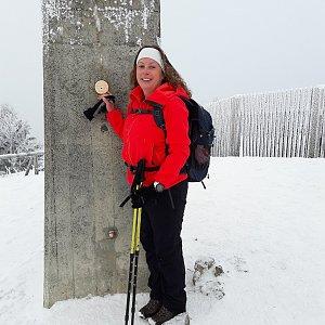 Iveta Steinerová na vrcholu Praděd (16.12.2017 12:31)