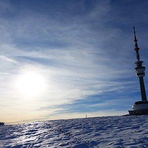 Petr Mikeska na vrcholu Praděd (2.1.2020 13:06)