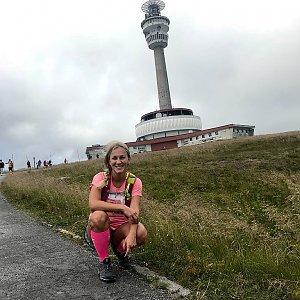 Barbora Dreslerová na vrcholu Praděd (25.7.2018 12:00)
