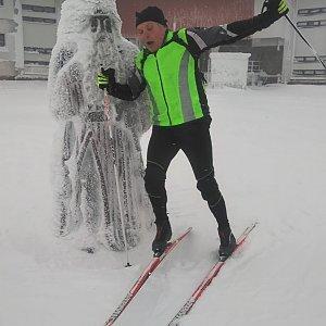 Jaroslav Hrabuška na vrcholu Praděd (6.1.2021 10:00)