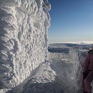Michal Steffek na vrcholu Praděd (17.1.2021 14:42)