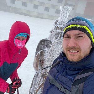 Dominika Turčeková na vrcholu Praděd (24.1.2021 13:00)