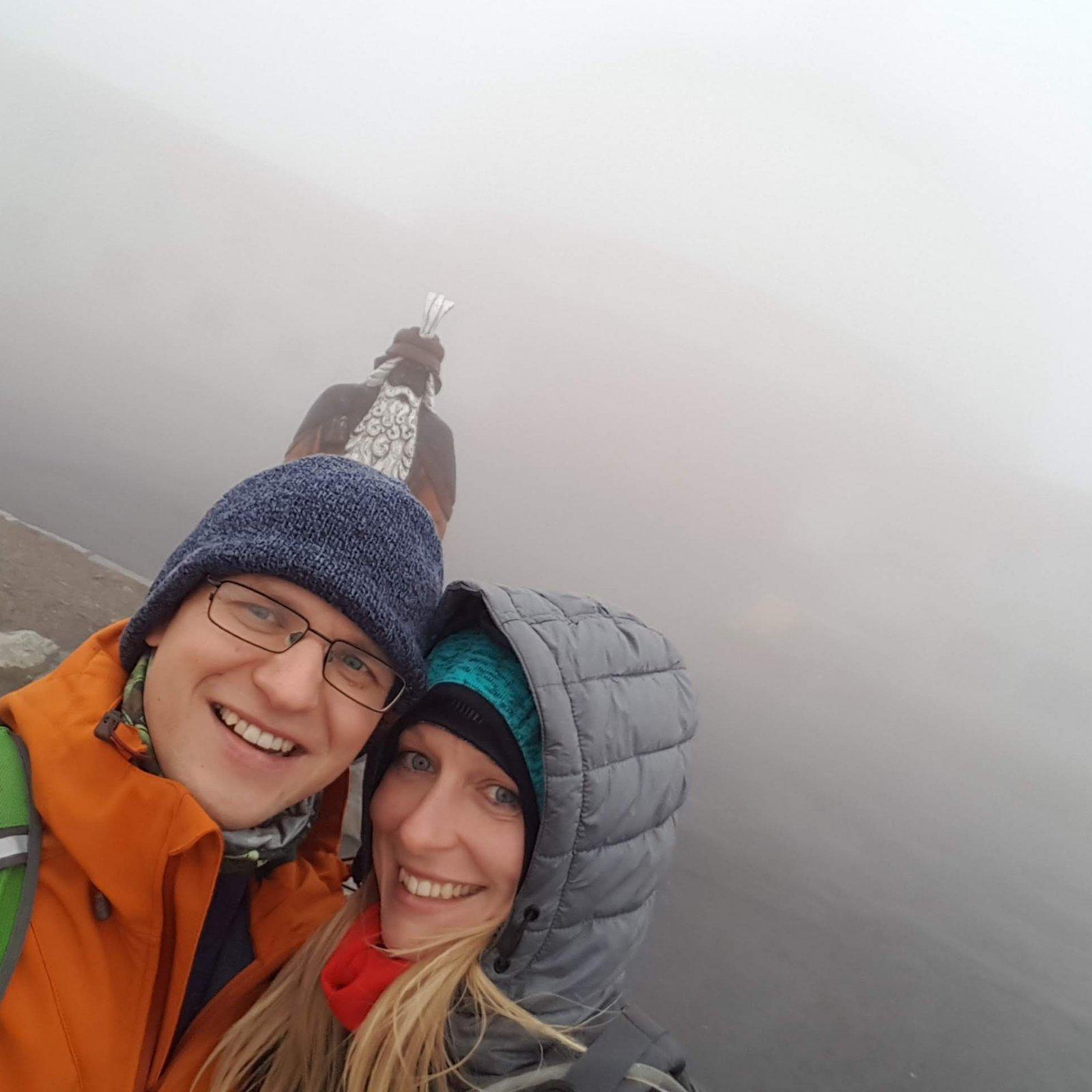 Michaela Karásková na vrcholu Praděd (9.11.2018 15:00)