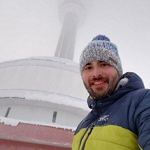 Martin Vlček na vrcholu Praděd (25.1.2019 15:25)