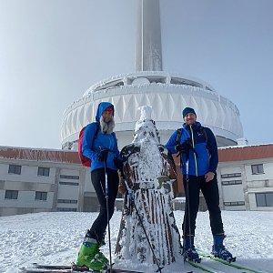 Dominika Turčeková na vrcholu Praděd (9.2.2021 13:15)