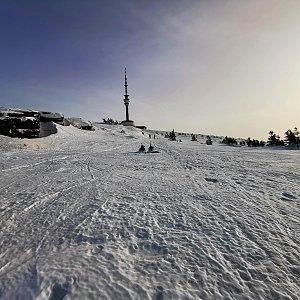 Martin Horáček na vrcholu Praděd (23.2.2021 15:46)