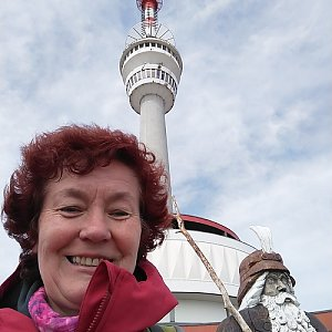 Anna na vrcholu Praděd (4.5.2019)
